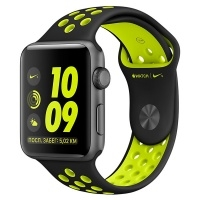 Apple Watch Nike+ 42mm Space Grey Al /Volt (MP0A2RU/A)>