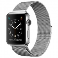 Смарт-часы Apple Watch 38mm Stainless Steel/Milanese Loop (MJ322RU)>