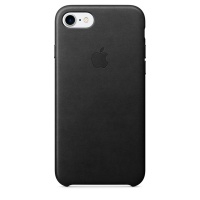 Кейс для iPhone Apple iPhone 7 Leather Case Black (MMY52ZM/A)>
