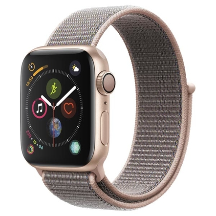 Apple Watch Series 4 GPS 44mm Aluminum Case with Sport Loop Золотистый/Розовый песок (MU6G2RU/A)