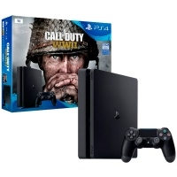 Игровая консоль PlayStation 4 Slim 1Tb + Call of Duty: World War II (CUH-2108B)>