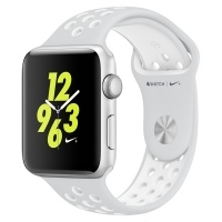 Apple Watch Nike+ 42mm Silver Al/White (MQ192RU/A)>