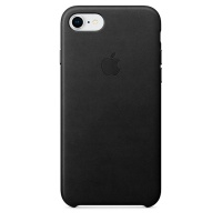 Кейс для iPhone Apple iPhone 8 / 7 Leather Case Black (MQH92ZM/A)>